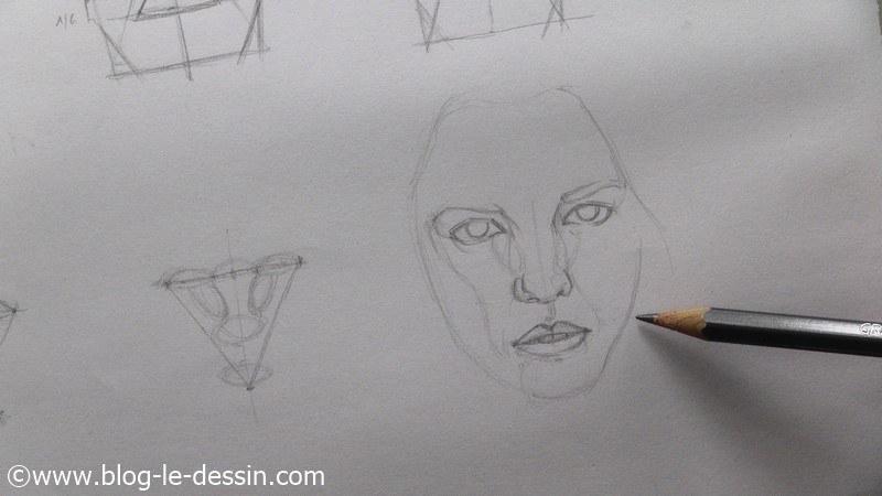 dessiner un visage proportions contour pur