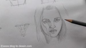 dessiner un visage proportions portrait final