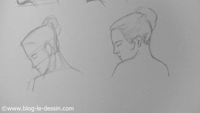 apprendre a dessiner les visage penches