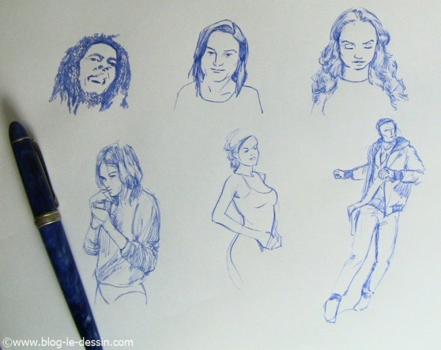 dessin stylo plume exemples