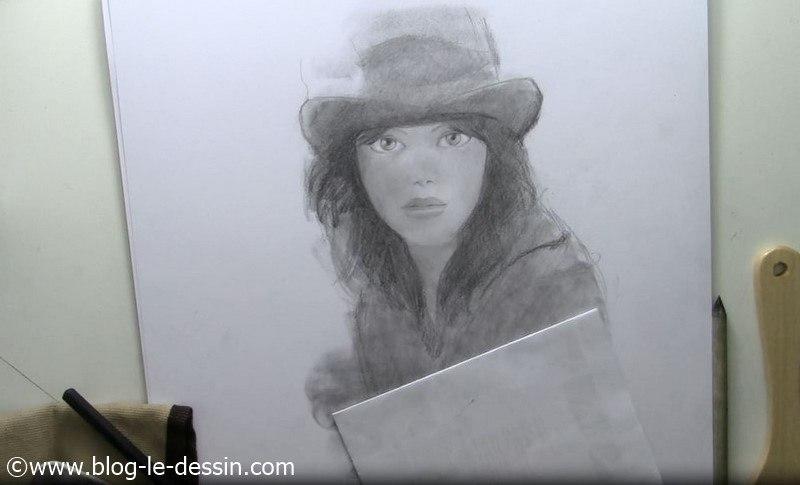 tutoriel dessin visage fille portrait premiere etape
