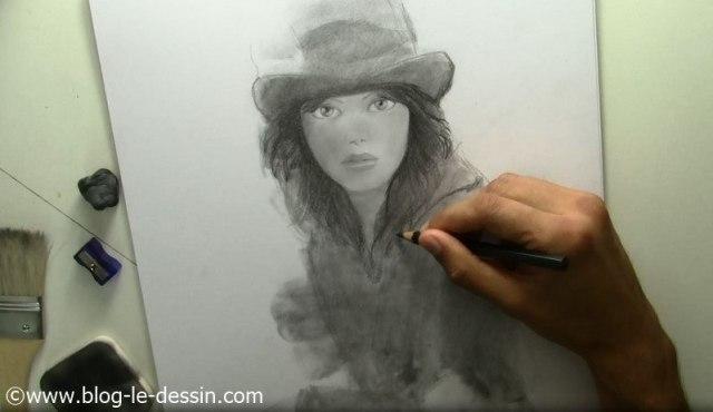 tutoriel dessiner visage fille cheveux modele gris