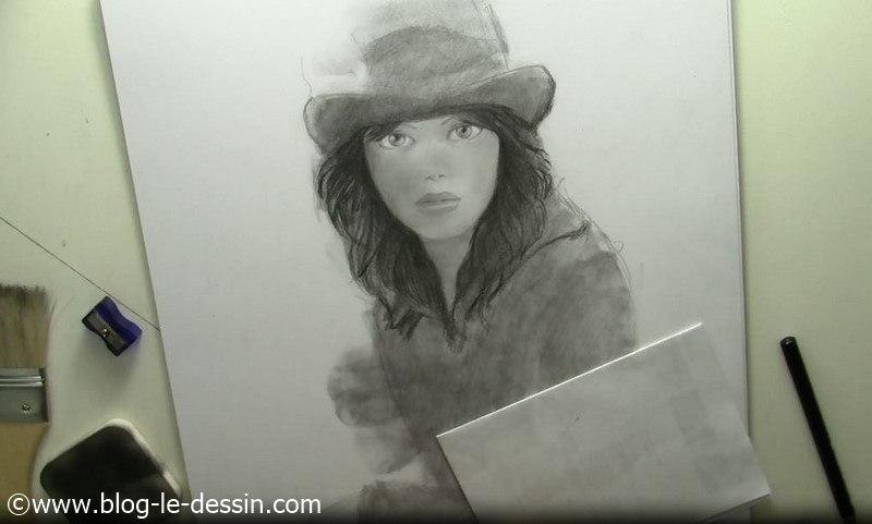 tutoriel dessiner visage de fille cheveux noirs