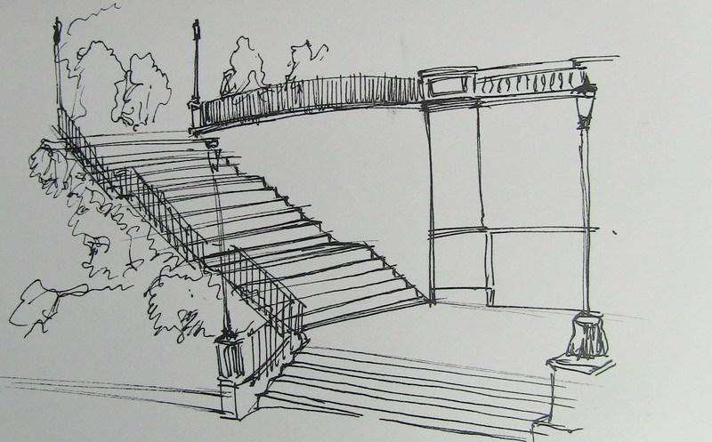 dessiner un escalier en perspective croquis definitif