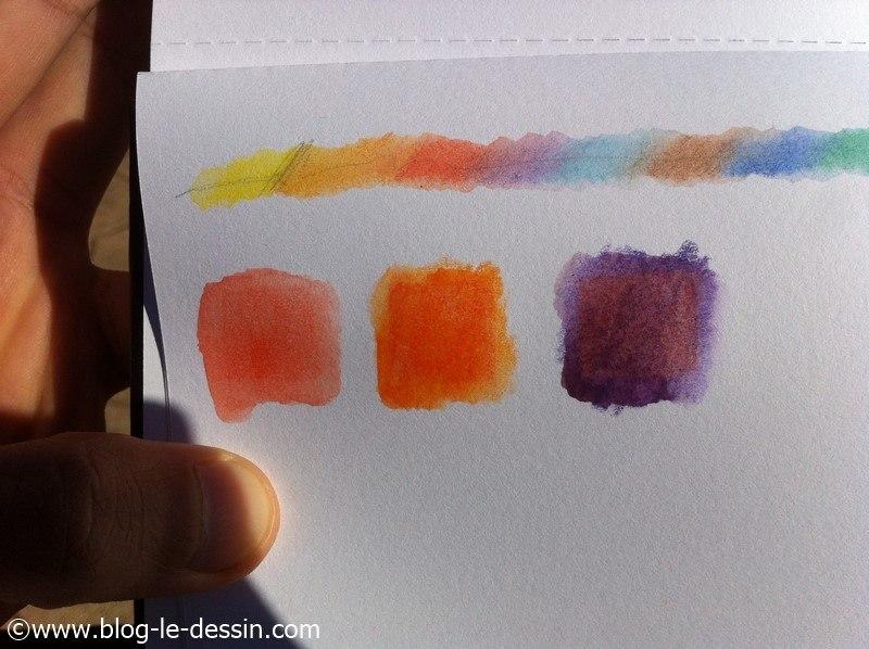 crayon aquarelle