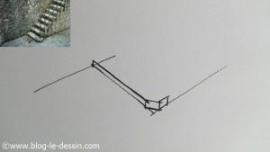 dessiner escalier première marche