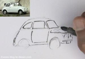 dessiner une voiture facile pare-brise