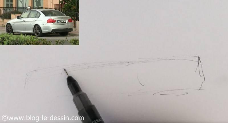 dessiner voiture sportive facile le cube esquisse