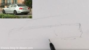dessiner voiture sportive facile ajout toit