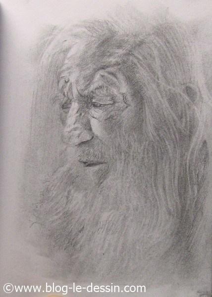 portrait vieil homme termine