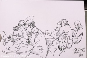 ambiance dessin cafe cracovie feutre pur