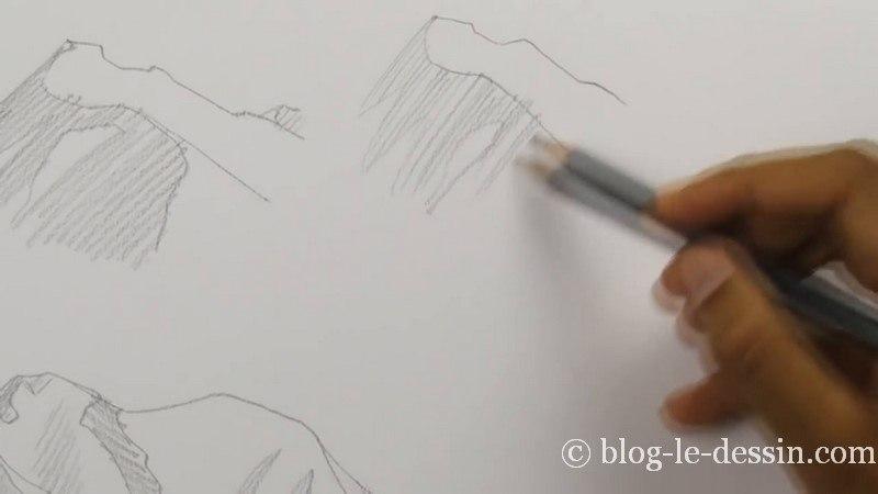 remplissage ebauche hachures simple crayon