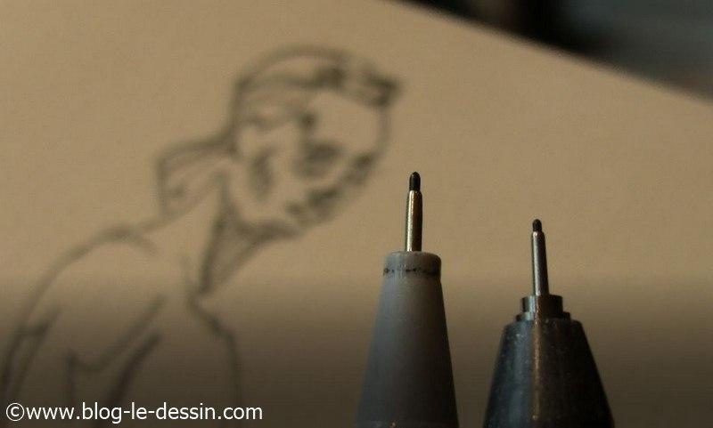 illustration montrant le feutre Faber-Castell Ecco pigment