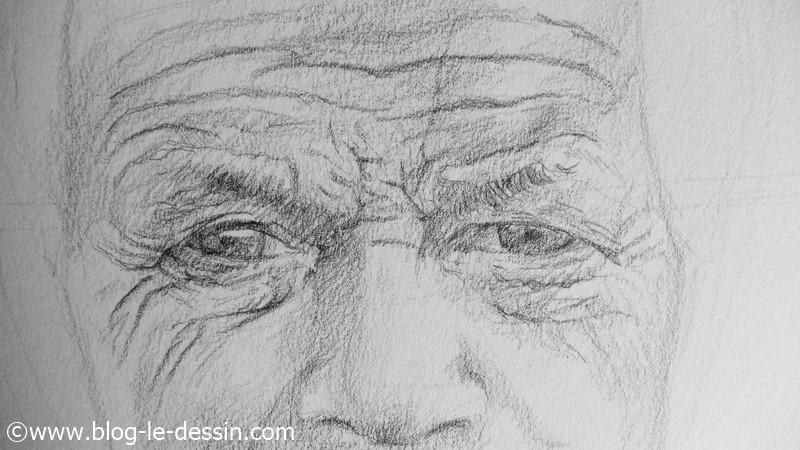 Voyez les reliefs que je pu creer pour dessiner les rides du visage