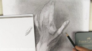tendons relief dessin mains graphite ouverte dos
