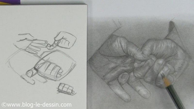 Faire le dessin des mains crois es dernier jour du d fi - Dessin de mains ...