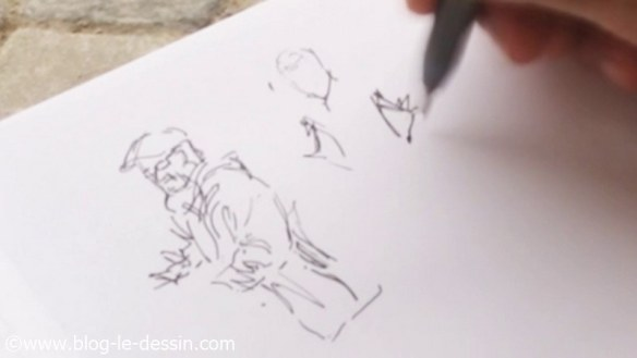 dessin gens rue pour croquis explications