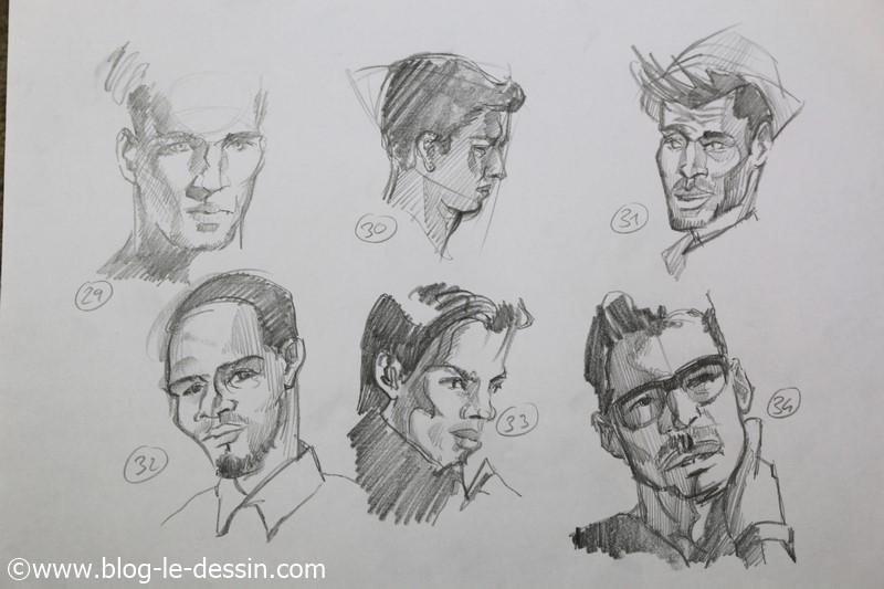 images dessins faciles a faire portrait 2