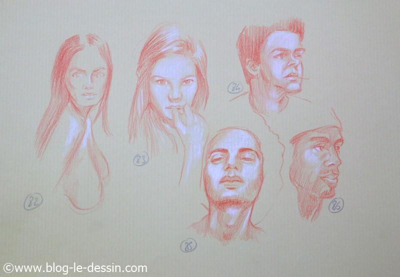 images dessins faciles a faire posture sanguine