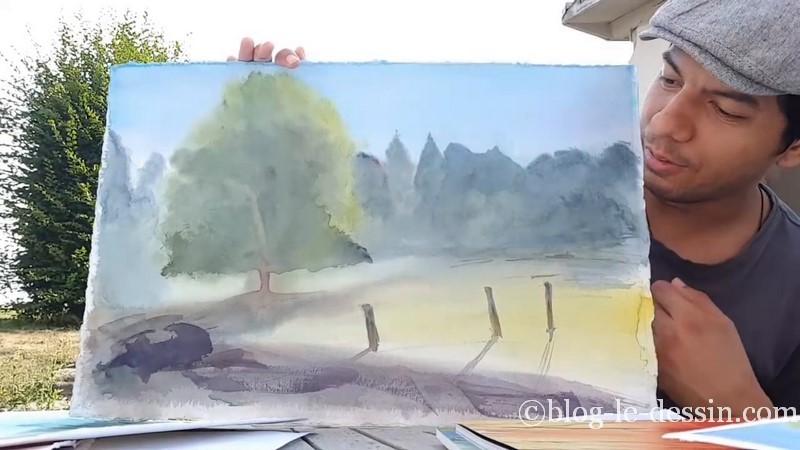 derniere aquarelle peinte avec slawa stage