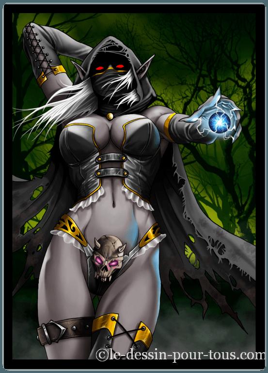 elfe noir fantasy art