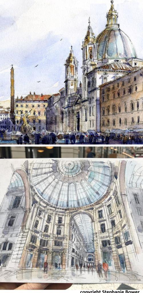dessin d'architecture en voyage