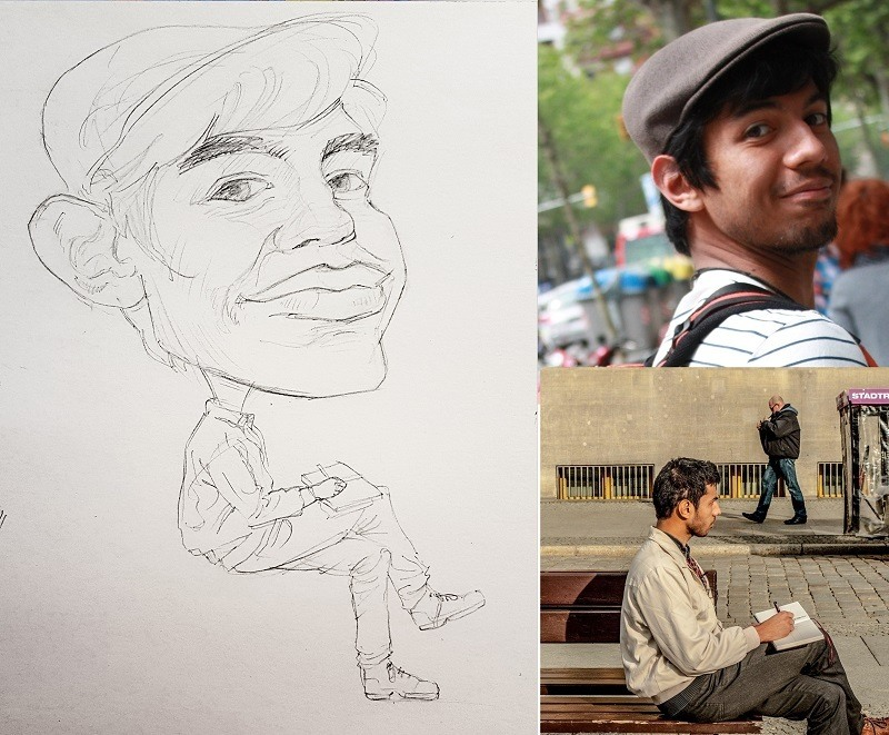 caricature auto-portrait