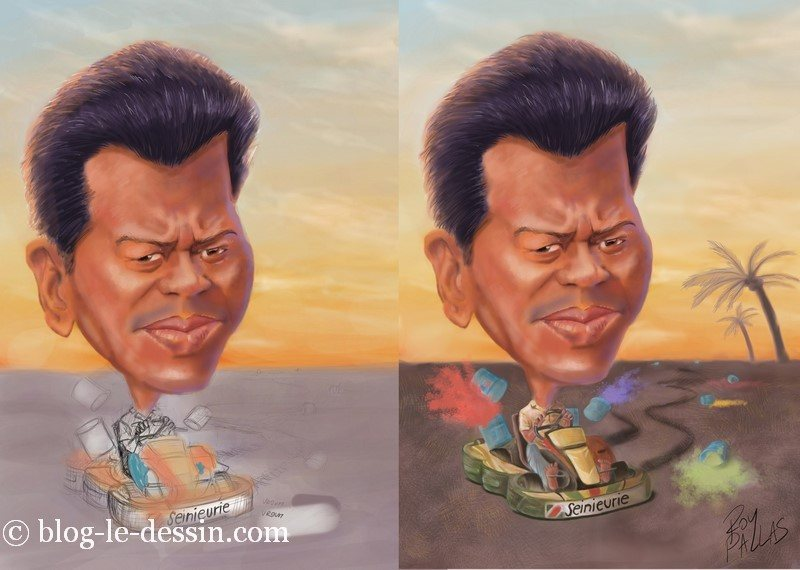 mettre en couleur une caricature