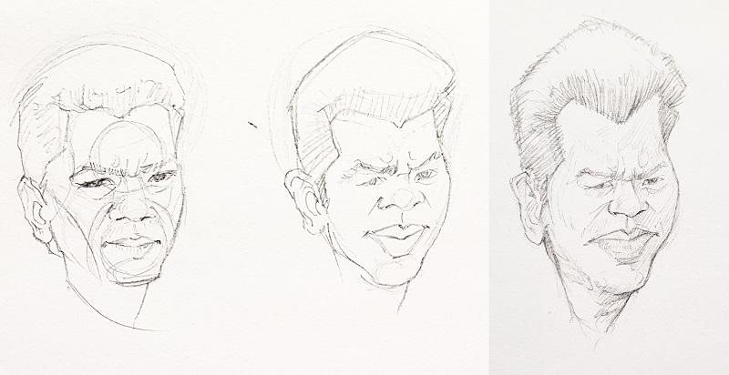 exagérer les traits pour dessiner une caricature