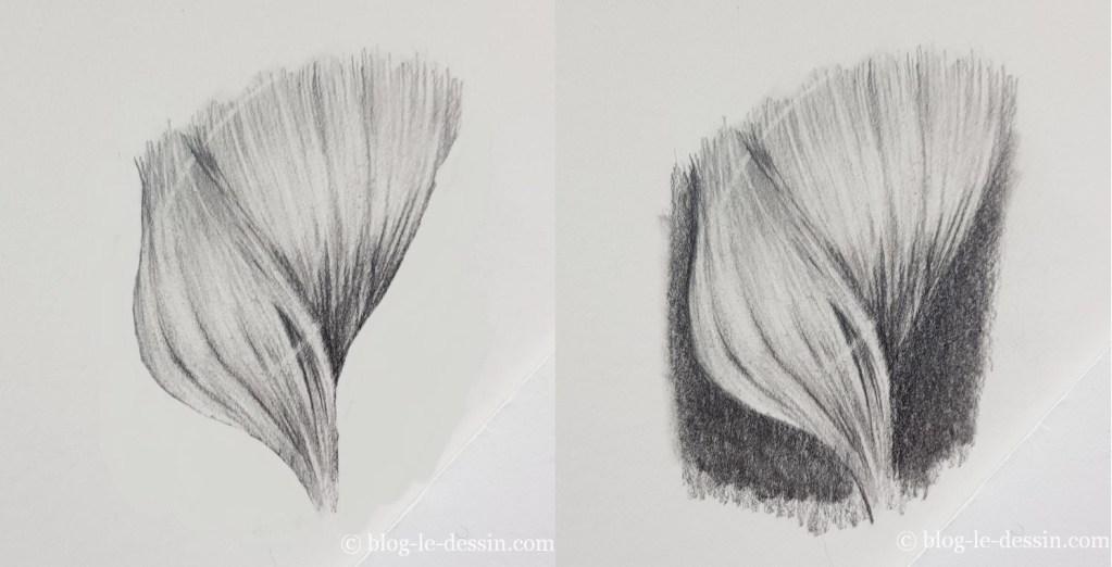 dessiner les cheveux avec du volume