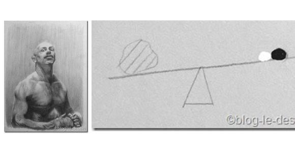 les valeurs de gris pour le fond de son dessin