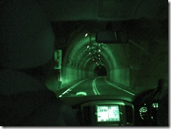 Going into tunnel Night Vision