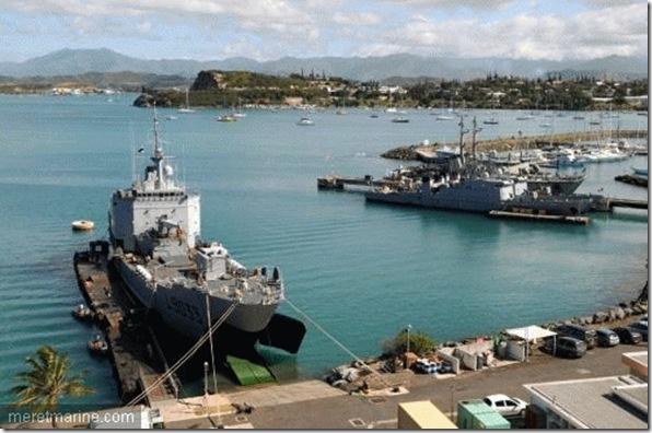La base navale de Nouméa - Photo de la Marine Nationale