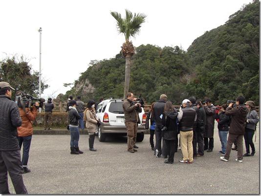 Des manifestants japonais contre les massacres de dauphins à Taiji