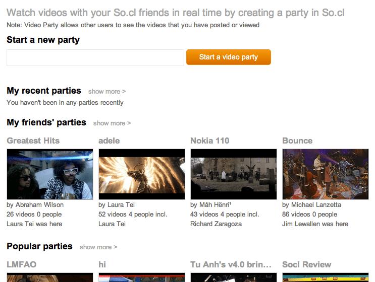 Le réseau social de Microsoft, So.cl, n'est plus destiné seulement aux étudiants - Video Parties, la partie 'Hangout' de So.cl
