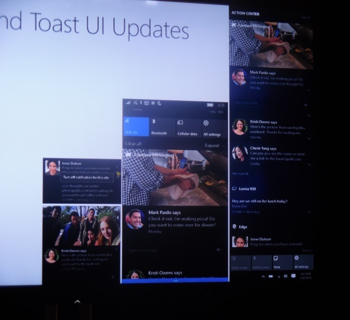 Windows 10 Anniversary Update : centre de notifications