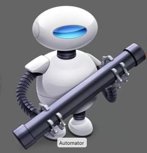 Automatorのスクリーンショット
