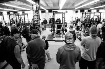 225 lbs bench press.