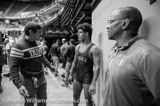 Coach Wissel, Kaden Russel, and Coach Lanham