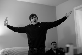 2018 March 09: Josh Finesilver of Duke Blue Devils wrestling on Friday, March, 9, 2018 during a team gathering in Durham, NC.