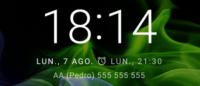 Contactos de emergencia con pantalla de bloqueo