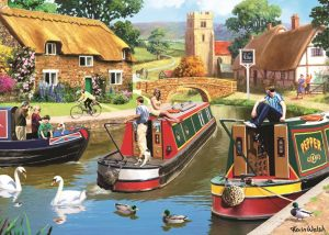 A Busy day at the Canal Jigsaw Puzzle