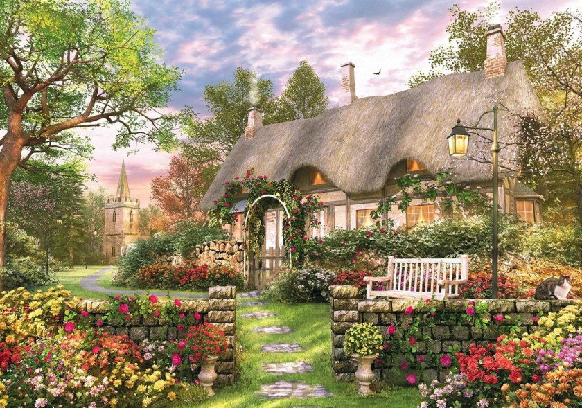 Falcon Whitesmiths cottage 1000 piece jigsaw puzzle