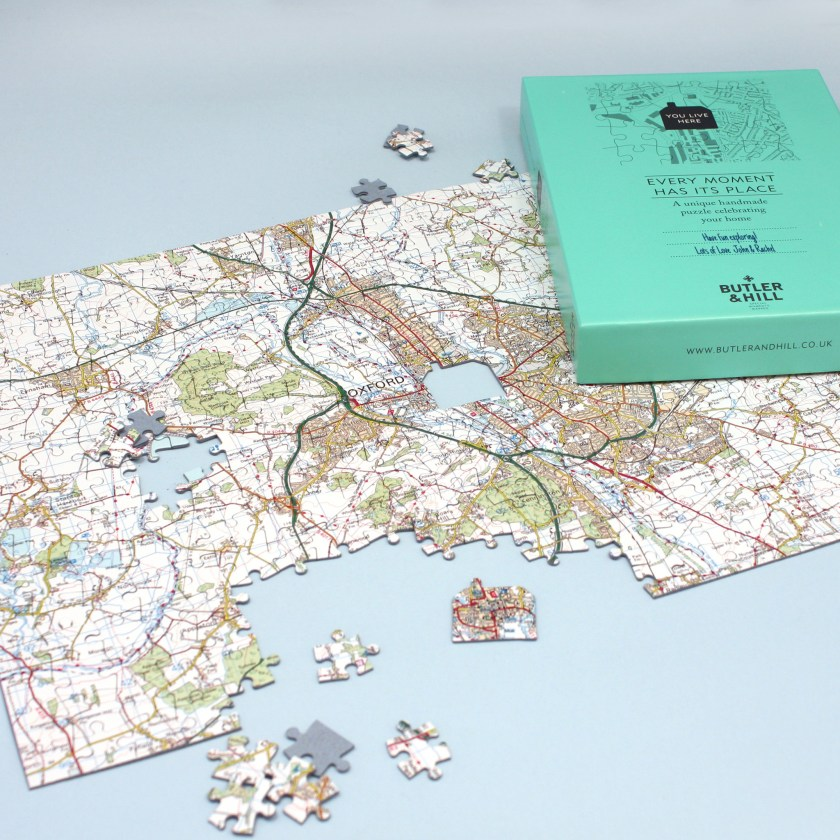 Personalised map jigsaw
