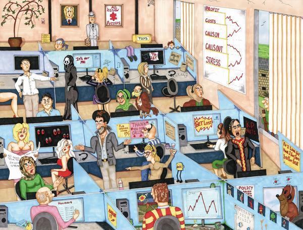 The_Call_Centre_Ambler_Cartoon_Collection_1000_pc_exclusive_jigsaw_puzzle