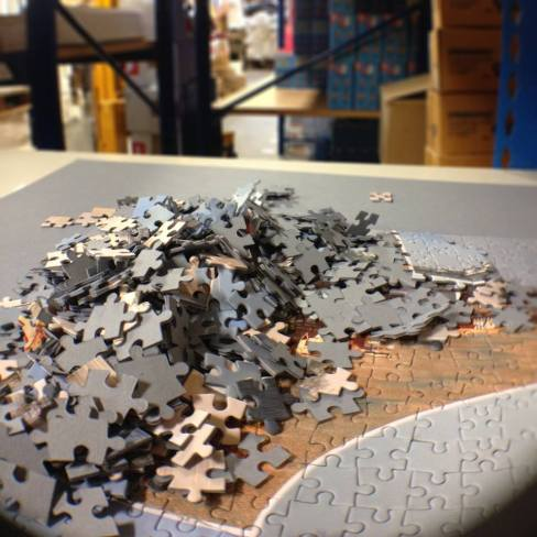 Broken Up Jigsaw Puzzle