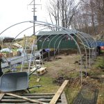 Polytunnel under construction