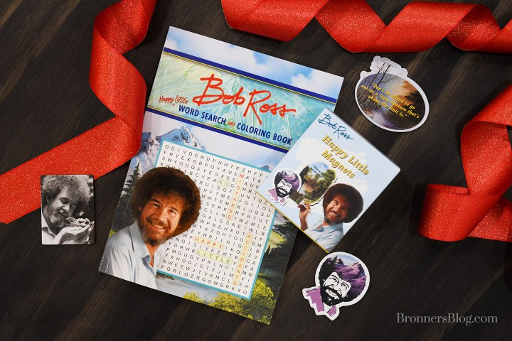 Bob Ross Word Search and Coloring Book and Magnets