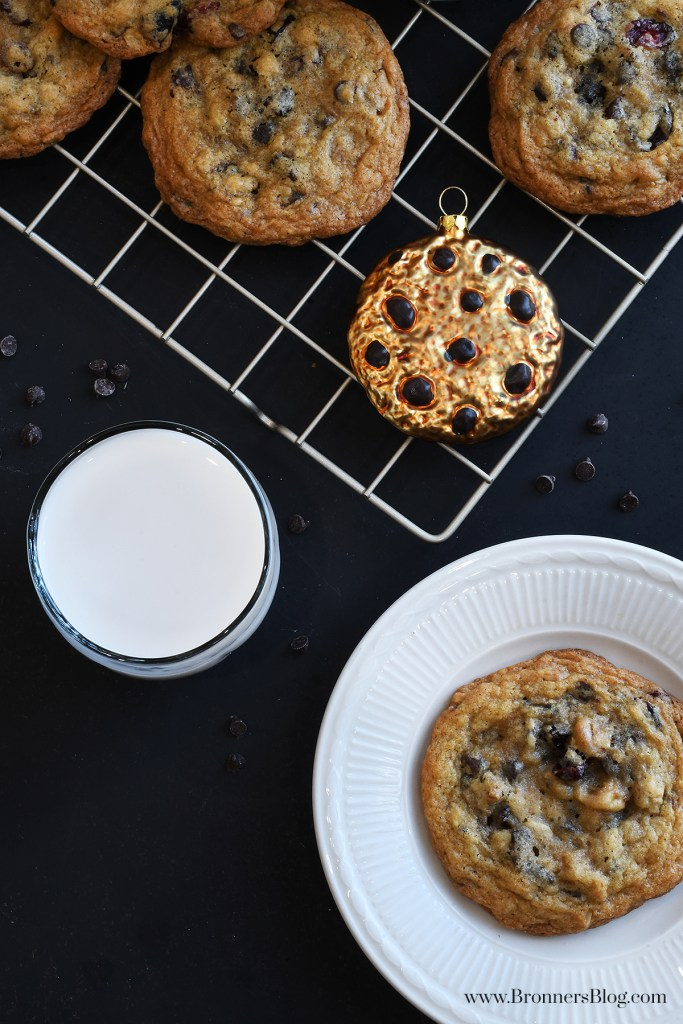 Chocolate Chip Cookie Ornament With Cookies And Glass Of Milkt