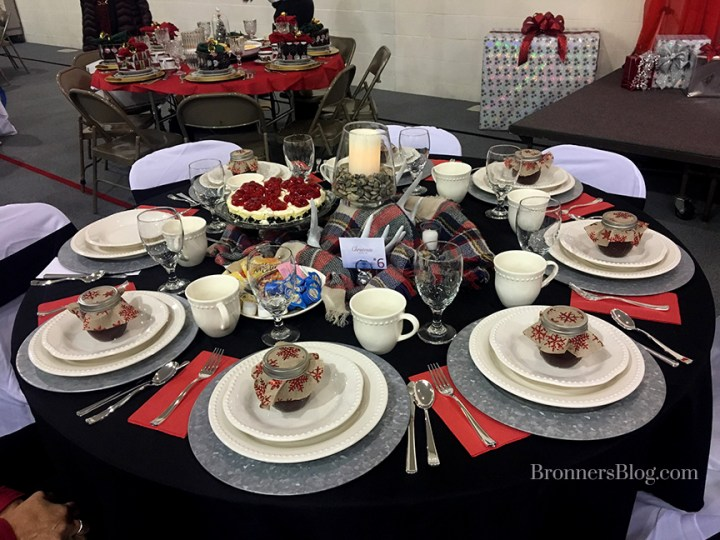 Christmas Tea Table